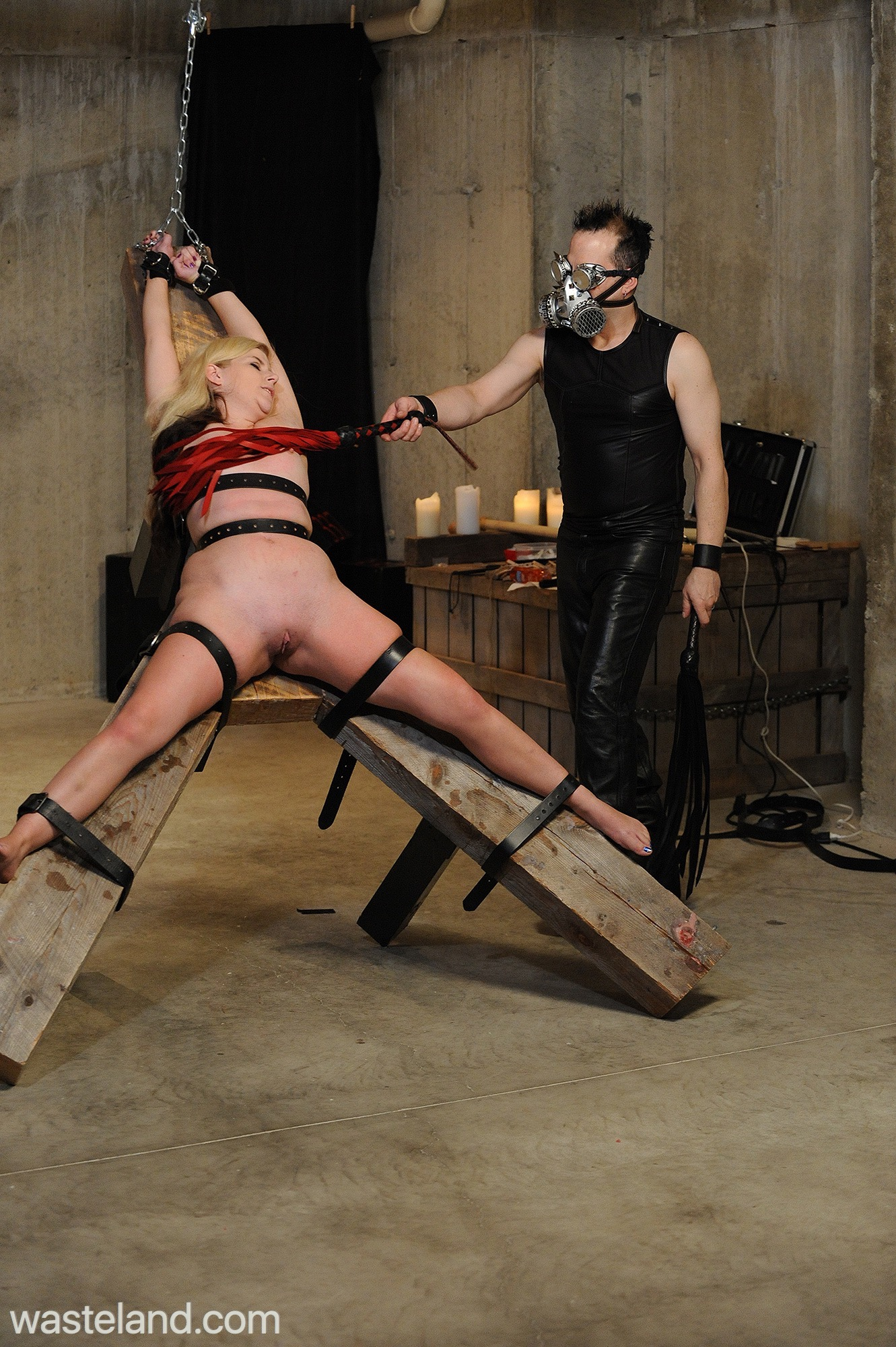 Lily Ligotage On The BDSM Rack