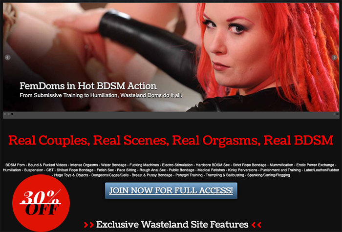 wasteland bondage movies discount
